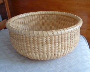 eight inch round nantucket lightship basket